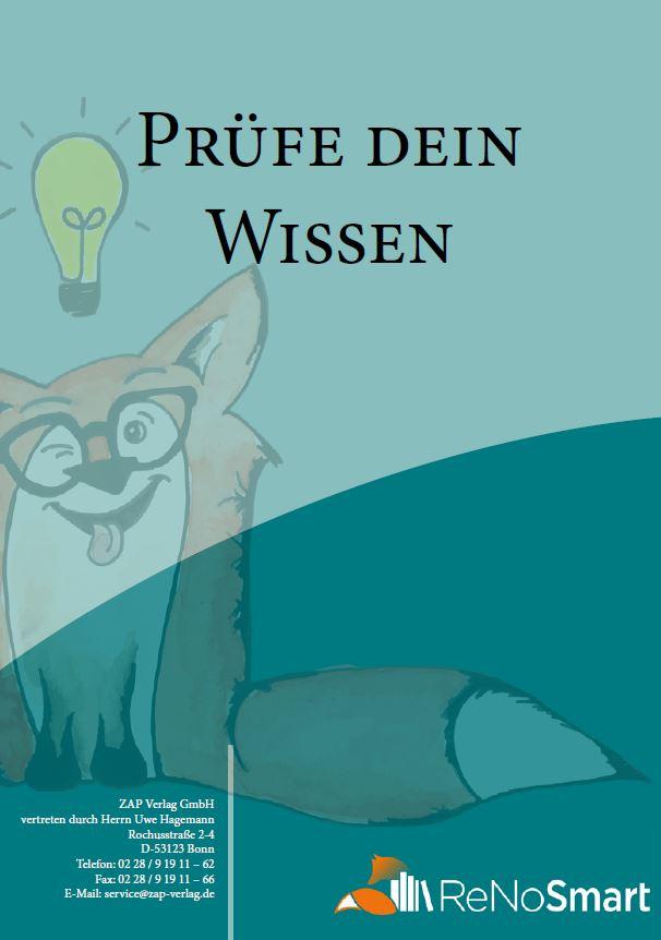 """Download  Übungsheft """"Prüfe Dein Wissen"""""""